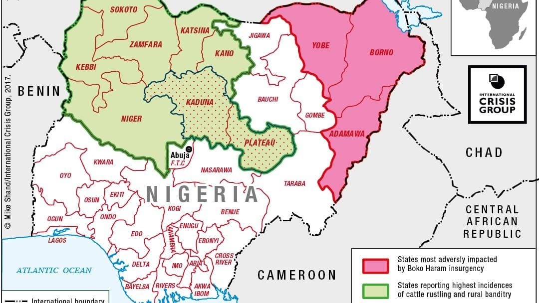 Herders Against Farmers Nigerias Expanding Deadly Conflict - Nigeria map