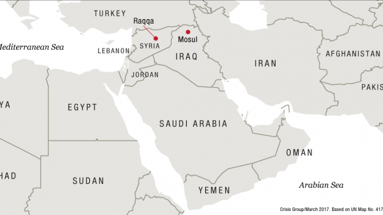 Counterterrorism Pitfalls What The US Fight Against ISIS And - Us attention on the middle east outline map answers