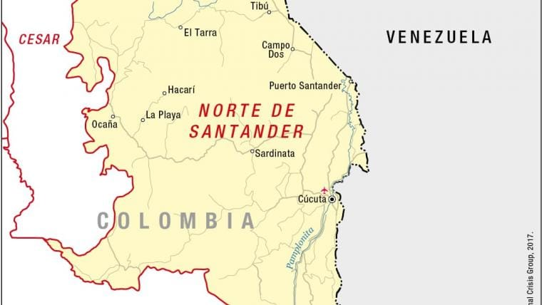 Venezuelas Dangers Spill Across The Colombian Border Crisis Group - Venezuela cities small scale map
