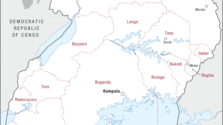 Ugandas Slow Slide Into Crisis Crisis Group - Map of uganda