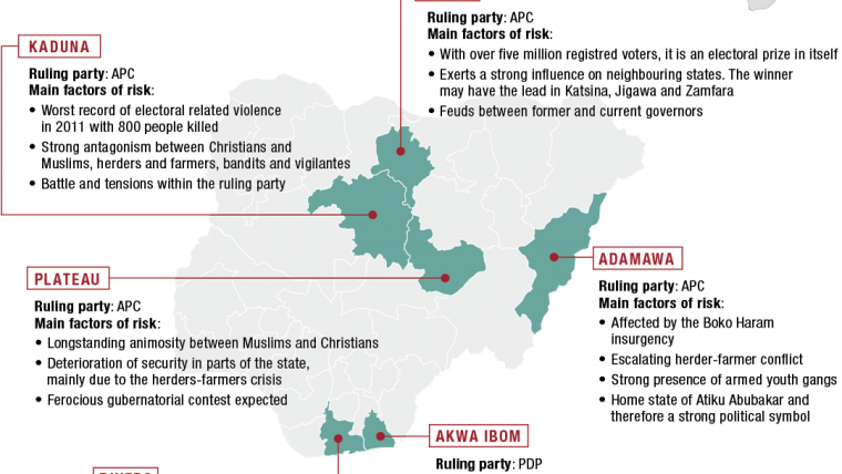 Nigeria's 2019 Elections: Six States to Watch | Crisis Group on delta region map, ksp delta-v map, west africa map, delta state government, delta state university campus map, africa ife city map, kwara state map, ogun state nigeria map, delta state tv series, okavango delta botswana map, nasarawa state map, yk delta map, taraba state nigeria map, niger state nigeria map, ondo state map, akwa ibom state nigeria map, delta street map, delta state people, sahara desert africa map, rivers state nigeria map,