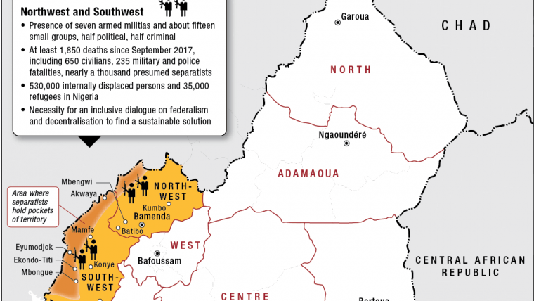 Cameroon's Anglophone Crisis: How to Get to Talks? | Crisis ... on cape verde atlantic ocean map, douala cameroon map, cameroon map with no words, mt cameroon map, cameroon language, cameroon ethnic groups, cameroon history, cameroon ebola, cameroon flag, www.africa map, lake nyos map, cameroon forest, croatia map, cameroon airport map, cameroon chad map, cameroon yearly income, cameroon morocco map, cameroon terrorism,
