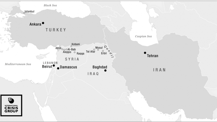 Turkey and iran bitter friends bosom rivals crisis group map of iran and turkey in the region crisis group gumiabroncs