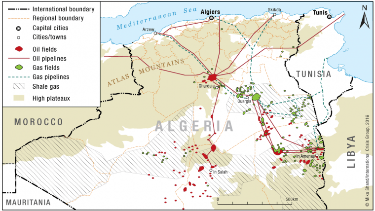 Algerias South Troubles Bellwether Crisis Group - Algeria map